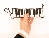 Scandinavian Retro Screen Printed Piano Dog Toy Softie Softie by Jane Foster