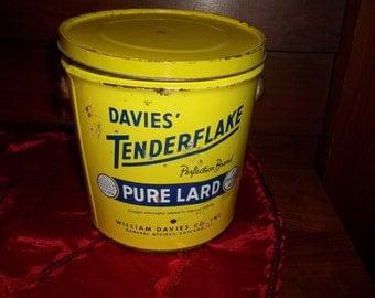 Vintage Pure Lard Tin