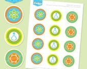 Instant download - SCIENCE 2 Inch Party Dots (Blue) - DIY Printable