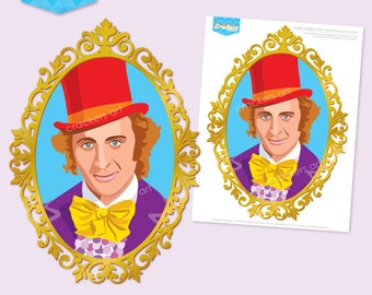 Instant Download - WONKA Inspired Party Willy Wonka Portrait 270mm Printable