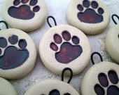 Miniature Paw Print Ornament, Dog Ornament,Cat Ornament, Pet Lover Gift, Animal Gift Tag