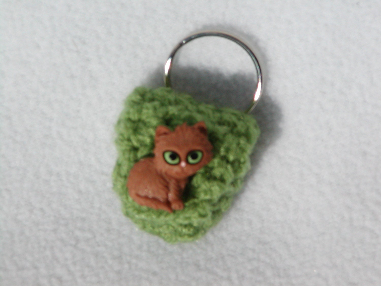 Crochet keychain Coin Cozy coin holder coin pouch by honeybee69