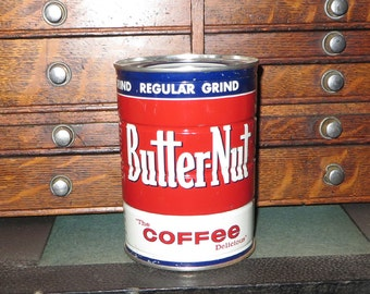 Vintage Butternut Coffee Can NOS Still full 1960 / 1963