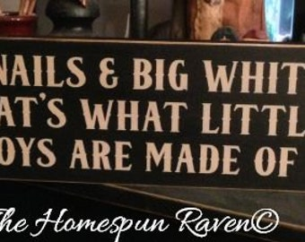 Frogs Snails Big Whitetails boys made of Primitive Handpainted Wood Sign Plaque BRAND NEW