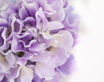 Silk Flower Hydrangeas - 60 Large Hydrangea Petals in Two Tone Light Purple -Artificial Flower Hydrangeas - ONE Hydrangea Head - ITEM 0778