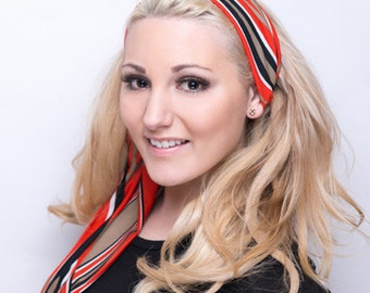 Head Scarf Headband, Headscarf Headband, Headscarves, Head Scarves, Orange Headband, Orange Head Band, Cute Tie Headband, Cute Headband Hair
