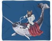 Sir Catspian, Fleece Blanket, Printed in USA