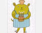 Cake Chef - Greeting Card