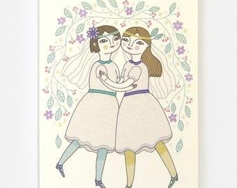Girl Wedding - Greeting Card