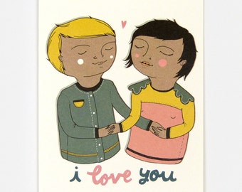 I Love You - Greeting Card