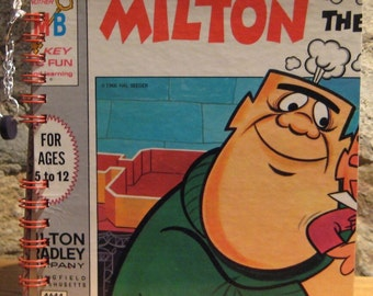 1966 Milton the Monster Board Game Box Spiral Bound Notebook