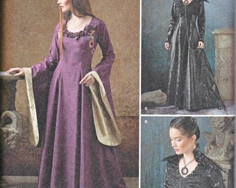 Simplicity 1137 Medieval Gown Gothic Renaissance Faire Sewing Pattern Sizes 6-14 New UNCUT