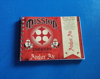 Mission Amber Ale Beer Recycled Notebook with 100% RECYCLED PAPER
