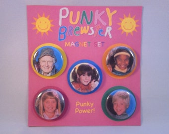 Punky Brewster classic TV show refrigerator magnets