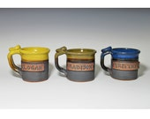 Custom name, gift for kids, small, lightweight, personalized pottery, children cups