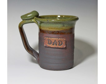 14-16oz Custom name, gift for him, large, lightweight, personalized pottery, made to order
