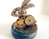 Steampunk Bunny Sculpture