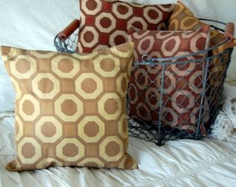 Otto Square Modern Scatter Throw Pillow / modern bedding / neutral pillow / tan throw pillow / geometric pattern pillow / mix and match