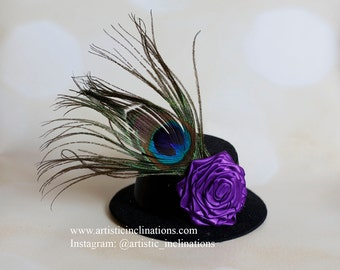Mini Top Hat with Handmade Flower