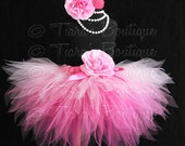 Pink Birthday Tutu, Halloween Fairy Tutu, Pinkalicious, Sewn 3 Tiered Pink Ombre Pixie Tutu, Photo Prop Tutu for Babies Girls Tweens
