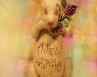 Think Spring! Felt Bunny PDF sewing pattern, easy
