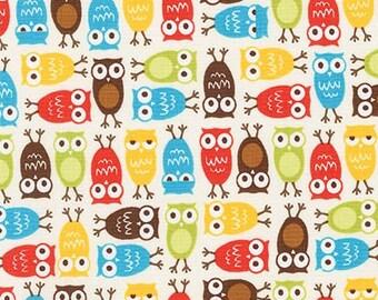 Minis Urban Zoologie minis - Owls in Bermuda by Ann Kelle for Robert Kaufman - 1 Yard