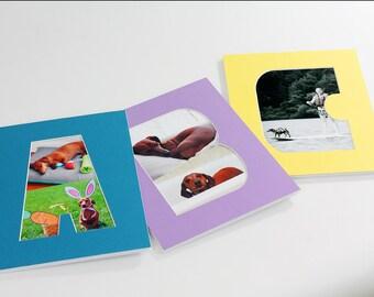 Letter Photo Mat - Photography Collage - Kids - Custom Color - Children