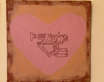 Machinery listens to love painting