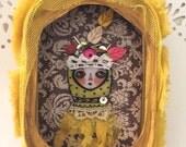 Saffron. Original Mixed Media Art