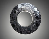 Articles similaires vitrail rond noir spirale mosa que for Miroir mosaique design