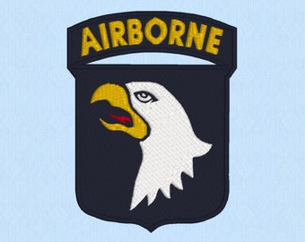 Airborne Army U.S. Military machine embroidery design file