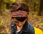 Chocolate and Strawberries Liberty of London Collection Garlands of Grace headcovering headband headwrap