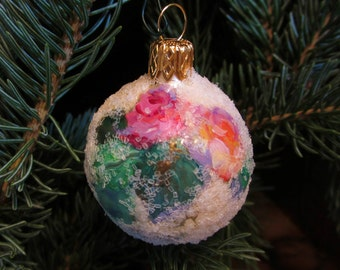 Handpainted Small Christmas Ornament- Original Holiday Decor