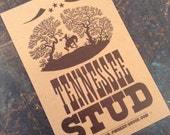 TENNESSEE STUD Small Hand Printed Letterpress Poster horse love song