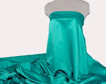 """Duchess satin Fabric 60""""  Jade Green ... bridal, formal, pageant, suits , home decor..wedding...crafts"""