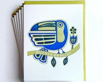 Toucan Gracias Card - set of 6