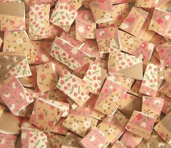 Mosaic Tiles--Countryside--Pottery--92 Tiles