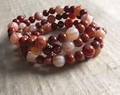 Red Agate Wrap Bracelet