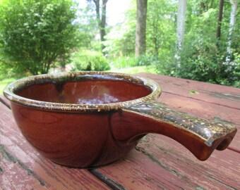 Large Hull Pottery Serving Bowl - Chili Server - Bean Pot
