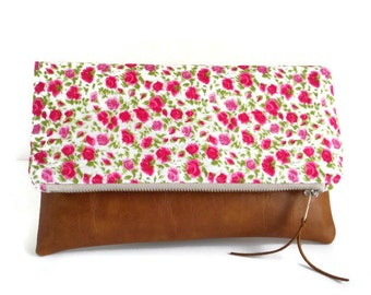 Liberty of London- Foldover Clutch - Ricardo's Blooms - Roses