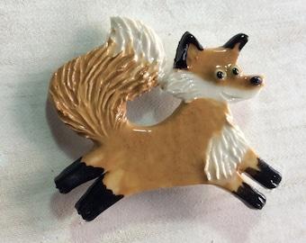 Mosaic Tile or pin Porcelain Ceramic Fox