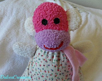 Sophia the pillow doll sock monkey