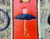 Luggage Tag with Magritte's Umbrella