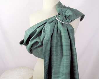 Silk Ring Sling Tussah Blend Baby Carrier - Spring Green - DVD included, special occasion, baby carrier, specialty silk