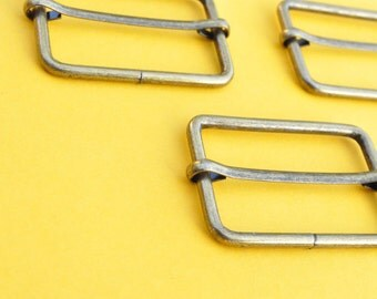 FREE SHIPPING--20 of 1 1/2  inch Anti Brass Rectangle Strap Sliders