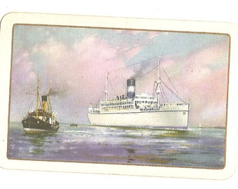 Vintage 20's-40's Play Card - Single SWAP Trading Card  - T S S Vandyck 1932 Ship ID 62