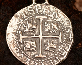 Spanish 8 Reale in Sterling Silver PN-314