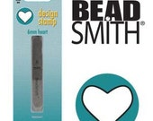 BeadSmith 6mm HEART Metal Design Stamp LOW SHIPPING