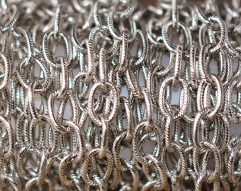 3 ft. Large Textured Cable Chain Antique Silver 9 x 6mm -  Nunn Designs Chain