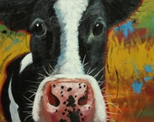 Cow painting 988 24x36 inch animal original oil painting by Roz